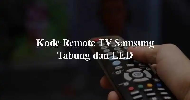 Kode Remot TV Samsung